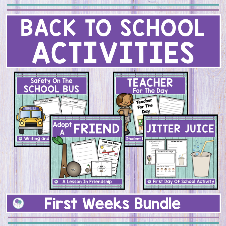 First Week Of School Activities For First Grade - Firstieland