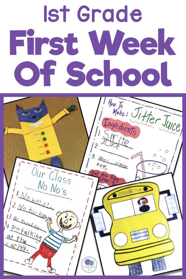 First Week School Activities For First Grade Firstieland