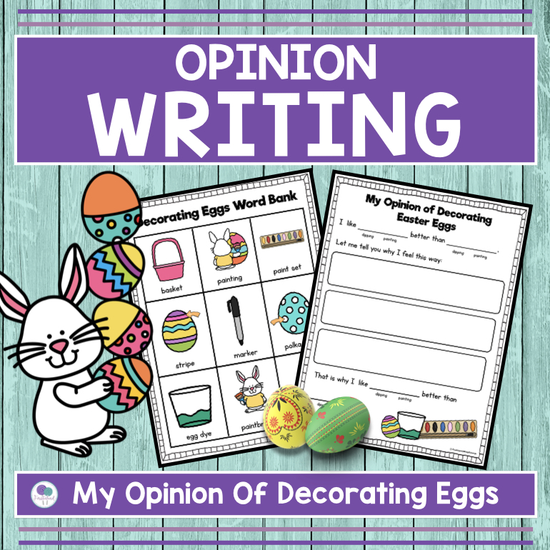 Easter writing activity for first grade