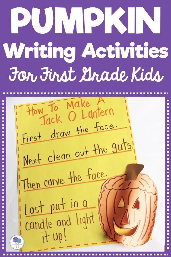 Pumpkin Writing Activities - Firstieland