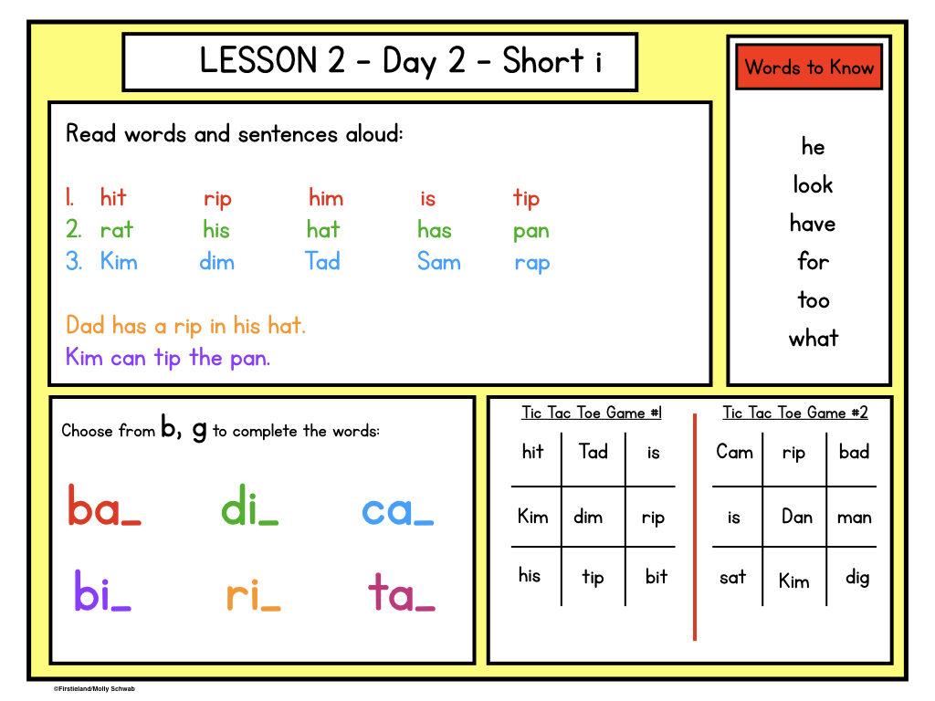 - First Grade Word Work Activities - Firstieland